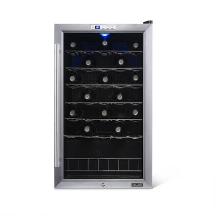 "Newair AWC330E 20.25"" Freestanding Wine Cooler, in Stainless Steel"