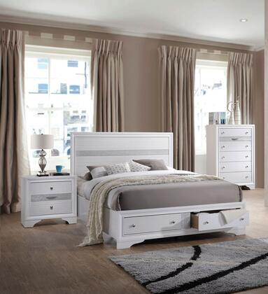 Acme Furniture Naima 3 Piece King Size Bedroom Set