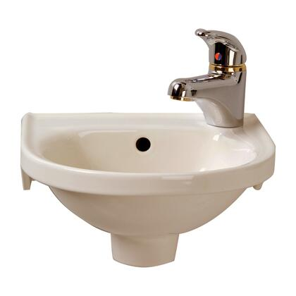 Barclay 4521 Rosanna Wall Hung Basin with Hangers having 1-Hole for Faucet on Right  in