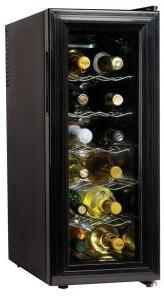 "Koolatron WC12 10.25"" Freestanding Wine Cooler, in Black"
