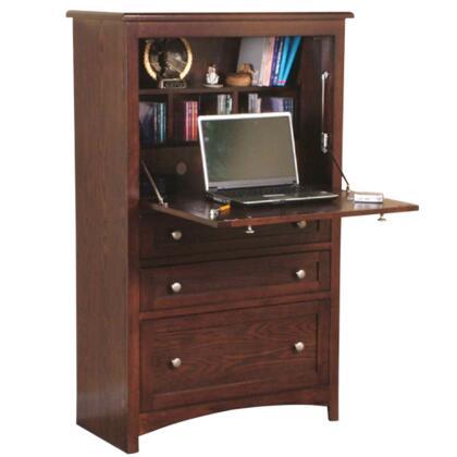 Sunny Designs 2849CA Cappuccino Series Armoire  Wood Desk