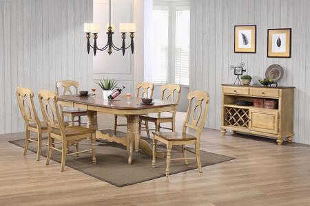 Sunset Trading DLUBR4296C50SRPW10PC Brook Dining Room Sets