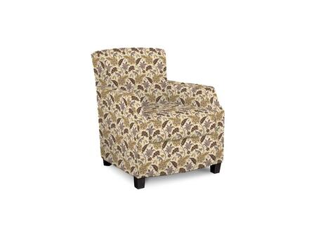 "Bassett Furniture Comiskey Connection 1149-02/BEx 28"" Accent Chair with Fabric Upholstery, Tapered Wood Legs, Tight Back and Contemporary Style in"