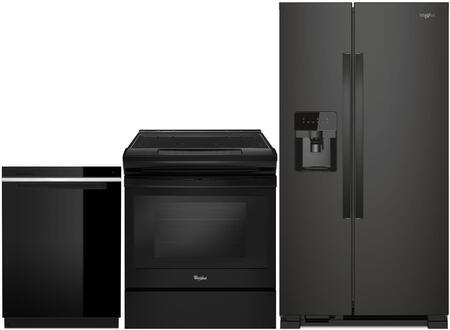 Whirlpool 995393 3 piece Black Kitchen Appliances Package