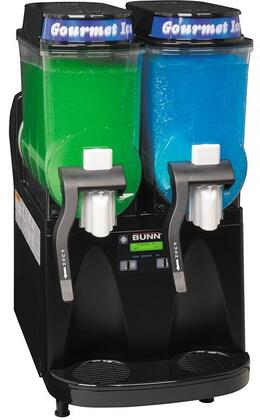 Bunn-O-Matic 3400000 Frozen Beverage Dispenser with 2 Large 3-Gallon Hoppers, Manual Fill, Touchpad Display, Extended Handle and No Lube Design Faucets, in