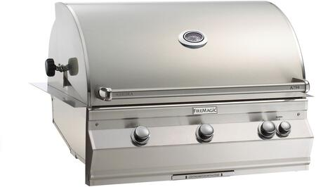 "FireMagic A790I6EAX Aurora 42.25"" Built-In Grill with E-Burners, Back Burner, and Analog Thermometer"