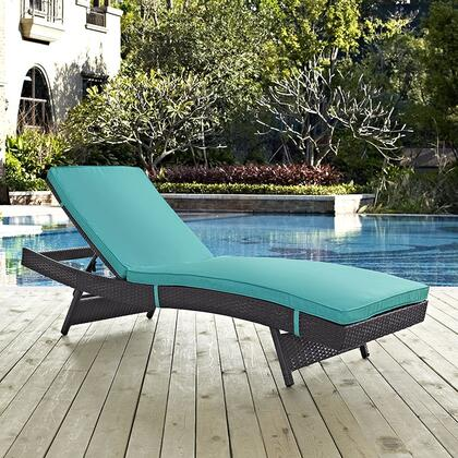 "Modway EEI2179EXPTRQ 78.5"" Water Resistant Lounge Chair"