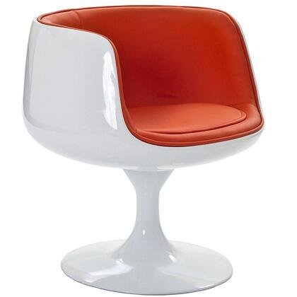 Modway EEI631ORA Dining Vinyl Plastic Frame Accent Chair