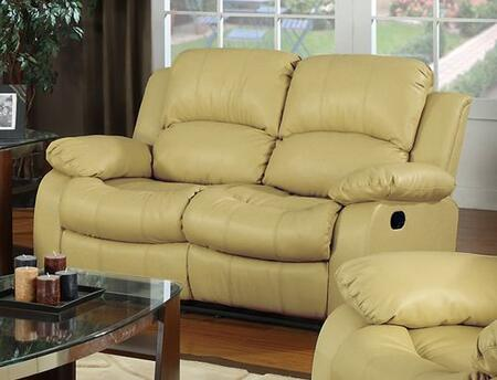 Meridian 644KHL Gramercy Series Bonded Leather Reclining with Wood Frame Loveseat