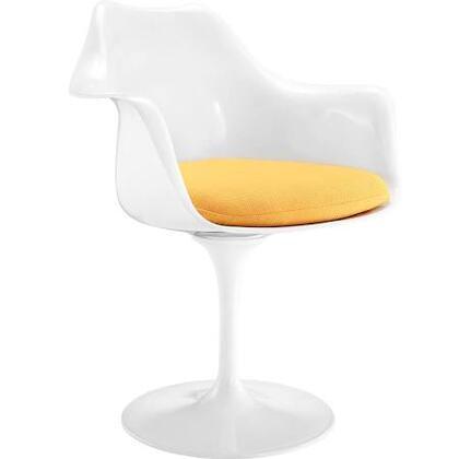 EdgeMod EM152YEL Daisy Series Modern Fabric Plastic Frame Dining Room Chair