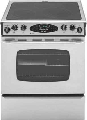 Maytag MES5875BAS  Slide-in Electric Range with Smoothtop Cooktop, 4.5 cu. ft. Primary Oven Capacity, Storage in Stainless Steel