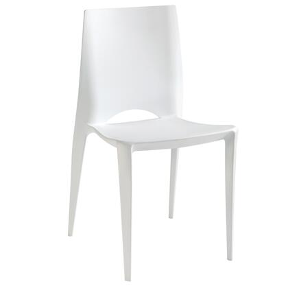 Modway EEI792WHI Modern Not Upholstered Plastic Frame Dining Room Chair