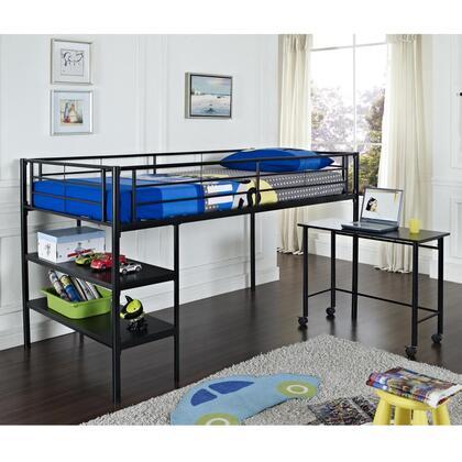 Walker Edison BTLD46SPBL  Twin Size Loft Bed
