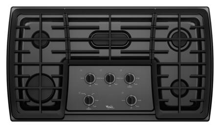 Whirlpool G7CG3665XB Gold Series Gas Sealed Burner Style Cooktop