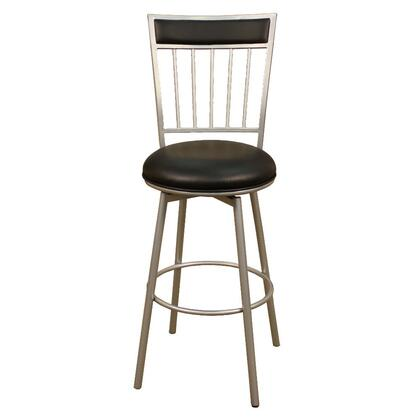 "American Heritage Alliance Series 1XX747SI-V01 Contemporary Stool With Full Swivel, Web Seating, Uniweld Metal Construction, 3"" Cushion and Adjustable Floor Glides in Black"