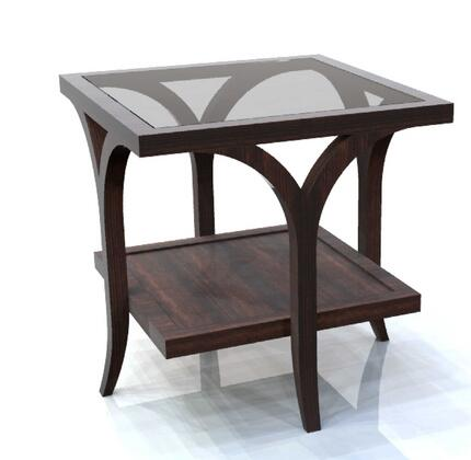 Allan Copley Designs 3090202 Contemporary Square End Table