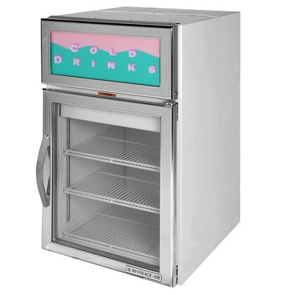 Beverage-Air CR5-1 One Section Dual Countertop Reach-In Display Refrigerator, 5 cu.ft. Capacity, [Color] Exterior and Top Mounted Compressor