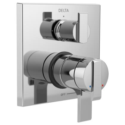 Ara T27867 Delta Ara: Angular Modern Monitor 17 Series Valve Trim with 3-Setting Integrated Diverter in Chrome