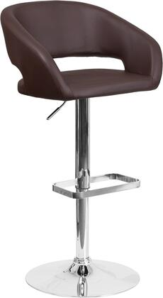 Flash Furniture CH122070BRNGG Residential Vinyl Upholstered Bar Stool