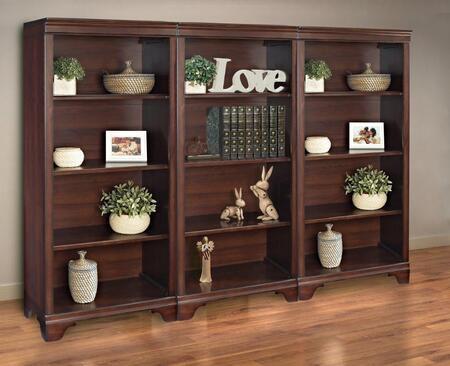 Turnkey Products ERBLCKOBK55X3D Belcourt Bookcases