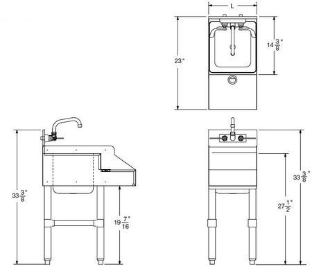 Blender Station with Splash Mount Faucet