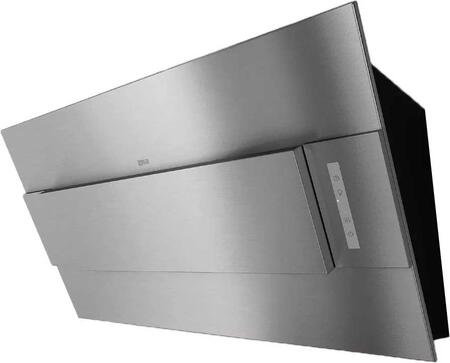 """Zephyr AINM80ASX 32"""" Arc Series Incline Wall Mount Range Hood with Tri-Level LED Lighting, Touch Controls and Wireless Remote Control, in"""