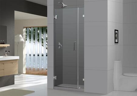"DreamLine SHDR-23 UnidoorLux Frameless Clear 3/8"" Glass Hinged Shower Door in"