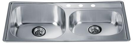 Dawn CH355 Polished Satin Kitchen Sink