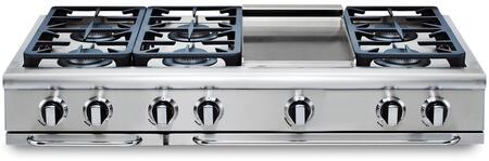 "Capital GRT486GL 48"" PRECISION Series Liquid Propane Sealed Burner Style Cooktop"