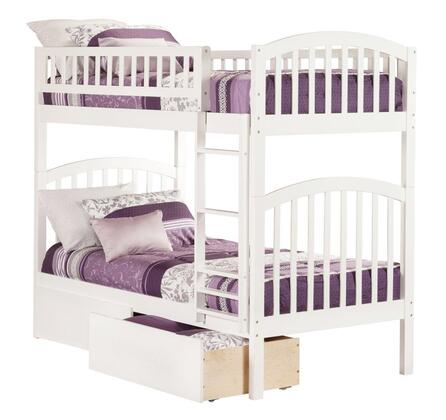 Atlantic Furniture Richland AB6414 Twin Over Twin Bunk Bed With Urban Bed Drawers