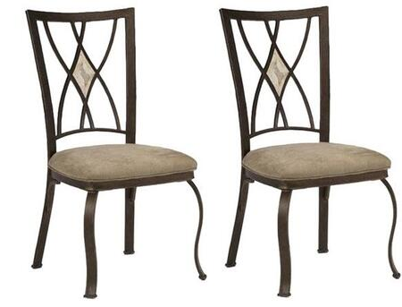 Hillsdale Furniture 4815805 Brookside Series Traditional Fabric Metal Frame Dining Room Chair