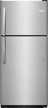 "Frigidaire FFHI2032Tx 30"" Energy Star Freestanding Top Freezer Refrigerator with Ice Maker, 20 cu. ft. Capacity, 2 Full Width SpillSafe Glass Shelves, 1 Full Width Wire Freezer Shelf, and Reversible Door, in"