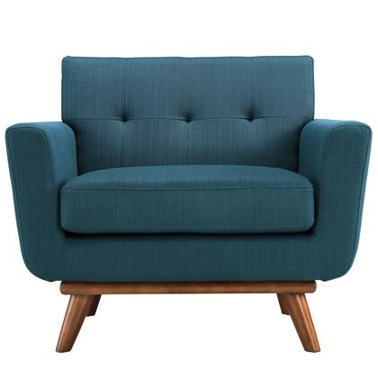 Modway EEI1178AZU Engage Series Azure Fabric Armchair with Wood Frame