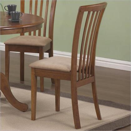 Coaster 101092 Brannan Series Casual Microfiber Wood Frame Dining Room Chair