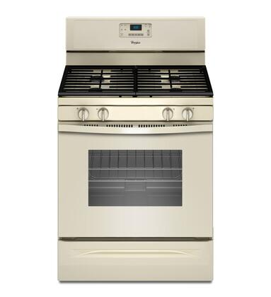 "Whirlpool WFG515S0 30"" Freestanding Counter-Depth Gas Range with 5.0 cu. ft. Capacity, 4 Sealed Burners, AccuSimmer Burner, Hidden Bake Element, Self-Cleaning, and SpeedHeat Burner in"