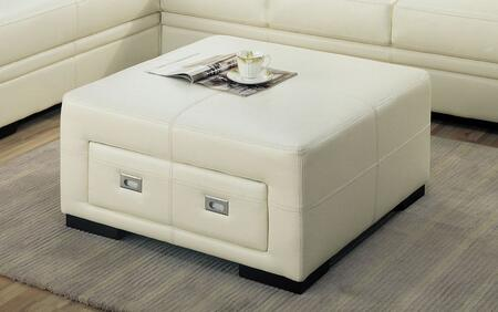 Monarch I8499IV Transitional Bonded Leather Ottoman