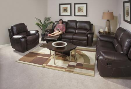 Novo Home 80052RRP Berkley Series Leather Reclining with Wood Frame Loveseat
