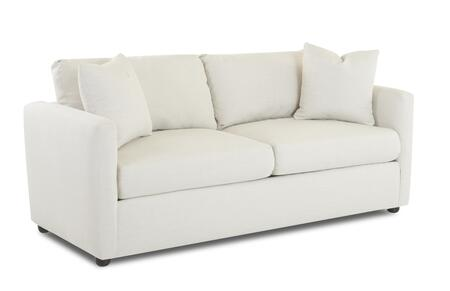 "Klaussner Jacobs Collection 3700-SC- 77"" Sofa with Track Arms, Two Arm Pillows and Polypropylene Fabric Upholstery in"