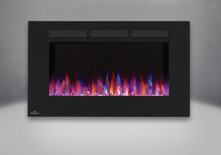 Napoleon NEFL Allure Wall Hanging Electric Fireplace with Front Vents, Clear Glass Embers and Heater with Up to 5,000 BTUs