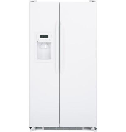 GE GSH25GGCWW  Side by Side Refrigerator with 25.25 cu. ft. Capacity in White