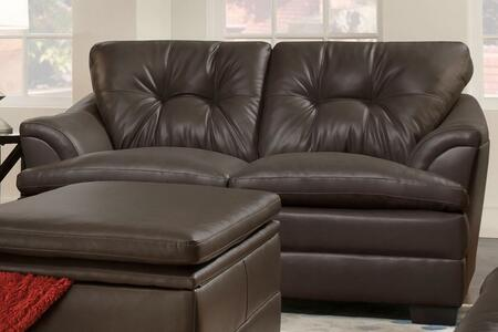 Simmons Upholstery 512202APOLLOESPRESSO Apollo Series Faux Leather  with Wood Frame Loveseat