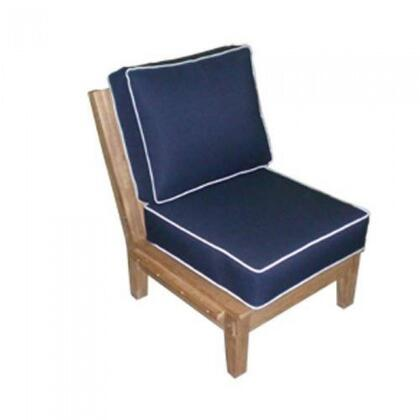 Royal Teak Collection MIAINSX OFFWHITE Miami Insert Chair for Sectional
