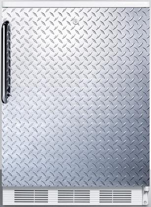 """AccuCold FF6L7 24"""" FF67 Series Energy Star, Medical, Commercial Freestanding Compact Refrigerator with 5.5 u. ft. Capacity, Door Storage, Interior Lighting, Door Lock and Automatic Defrost:"""