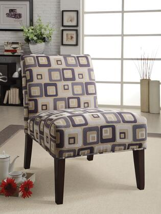 Acme Furniture 59153 Aberly Series Armless Fabric Wood Frame Accent Chair