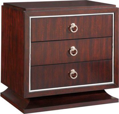 Broyhill 8050293 Pinstripe Series Rectangular Wood Night Stand