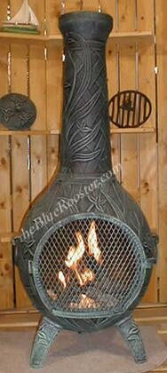 The Blue Rooster Company ALCH046GKLP Gas Powered Orchid Chiminea Outdoor Fireplace - Liquid Propane