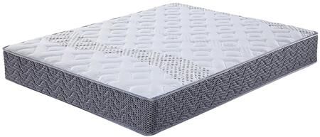 "Acme Furniture Tiago Collection 10"" Mattress with Gel Foam Top, Pocketed Coil, Two Rows Wires, Patterned Knit Fabric, Black Felt Lined and Tight Top in White Color"