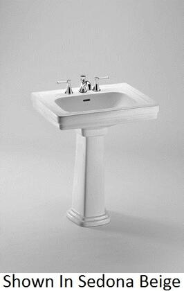 Toto LPT530N Promenade Pedestal Lavatory With Rear Overflow, Wide Spacious Basin For Comfortable Use & Traditional Styling