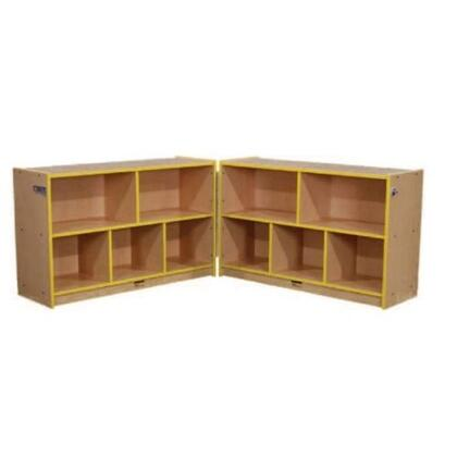 Mahar M70850 Single Sided Hinged Storage Units with Hasp, 2 Piece Set in Maple Finish with Edge Color (Pre-School)