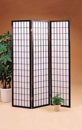 "Coaster Folding Screens 52"" Folding Floor Screen with Three Panels, Asian Design and Wood Construction in"